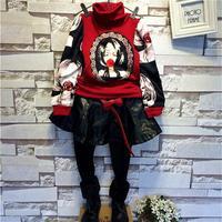 children's clothing wholesale Korean winter star with plus velvet bottoming sweatshirt