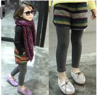 children's clothing wholesale Han Bantong Bohemia fringe of false two Leggings boots pants factory direct