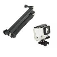 F10181-A Adjustable 3-Way Handheld Grip Tripod Mount Waterproof Protective Case for Selfie Camera GoPro Hero 3+ Plus + FreeShip
