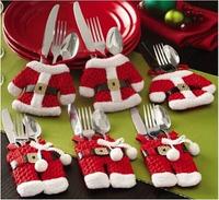 New year 6pcs/set Christmas Decoration Tableware Set