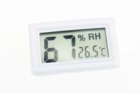 F10184 Mini Digital LCD Thermometer Hygrometer Temperature Humidity Freezer Sensor Car Usage White + Freeship