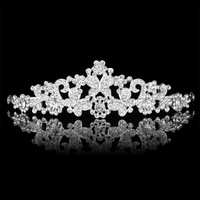 twholesale Wedding accessories High-grade pearl diamond bridal crown Gorgeous wedding accessories  style2