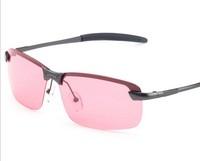 2015 High quality sunglasses men red lens fishing sun glasses sports driving glasses polarized sunglasses Night Vision Goggles