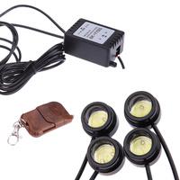 4pcs 3W IP68 Strobe Car Parking lamp Flash LED DRL Eagle Eye Light Night Rider Scanner Lighting bulb Running light