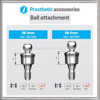 BALL ATTACHMENT 3mm/4mm+BALL METAL CAP+SILICON CAP SET  BIO-EFFECT,HIGH-END QUALITY ATTACHMENT,TITANIUM dental equipment dentist