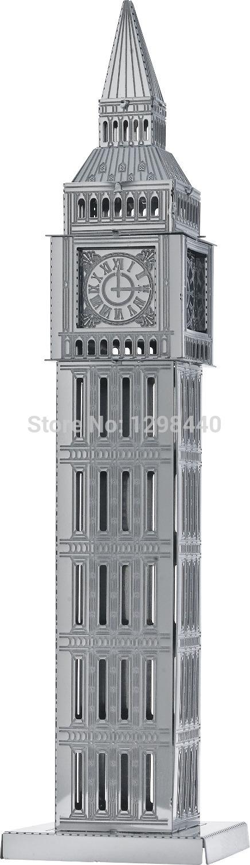 Big Ben Smart kids DIY fun puzz 3D metal works jigsaw puzzs toy 3d puzzle metal model(China (Mainland))