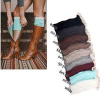 Women's Fashion Crochet Knitted Lace Trim Boot Cuffs Toppers Leg Warmers Socks