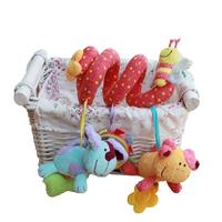 European fashion Baby Bed around Spiral Decoration Plush Rattle Toys
