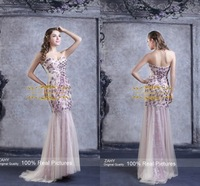 High Quality Mermaid Evening Dresses sweetheart beaded crystal off the shoulder 2015 prom dresses vestidos de fiesta YF51