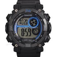 Fashion Multifunction Zeiger Digital Men Sport Watch Date Gift Blue