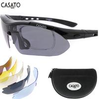 Casato 2014 New Men Cycling Eyewear Sunglass Outdoor Cycling Glasses Bicycle Bike UV400 Sports Sun Glasses 5 Lenses Original Box