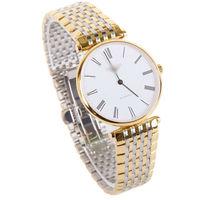 Free shipping new 2014 tltra-thin watches men luxury brand waterproof steel quartz watch men and women watches couple wristwatch