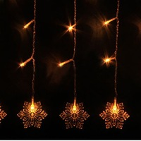 2014 New arrival 3M Snow Shape 150 led light strip Curtain Lamps String Fairy Lights Waterproof Yellow for faster delivery
