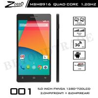New Cubot ZORROR 001 4G LTE Phone Qualcomm MSM8916 Quad Core Android Phone 5'' 720P Screen 13MP Camera 1G RAM 8G ROM Cellphones