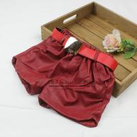 Wholesale Fashion Baby Girl Short Pant PU Korean Styles Children Pants For Kids Wear  PT41112-17^^EI