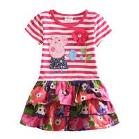 peppa pig girl dress 100% cotton nova kids brand hot selling baby girls dress one piece retail