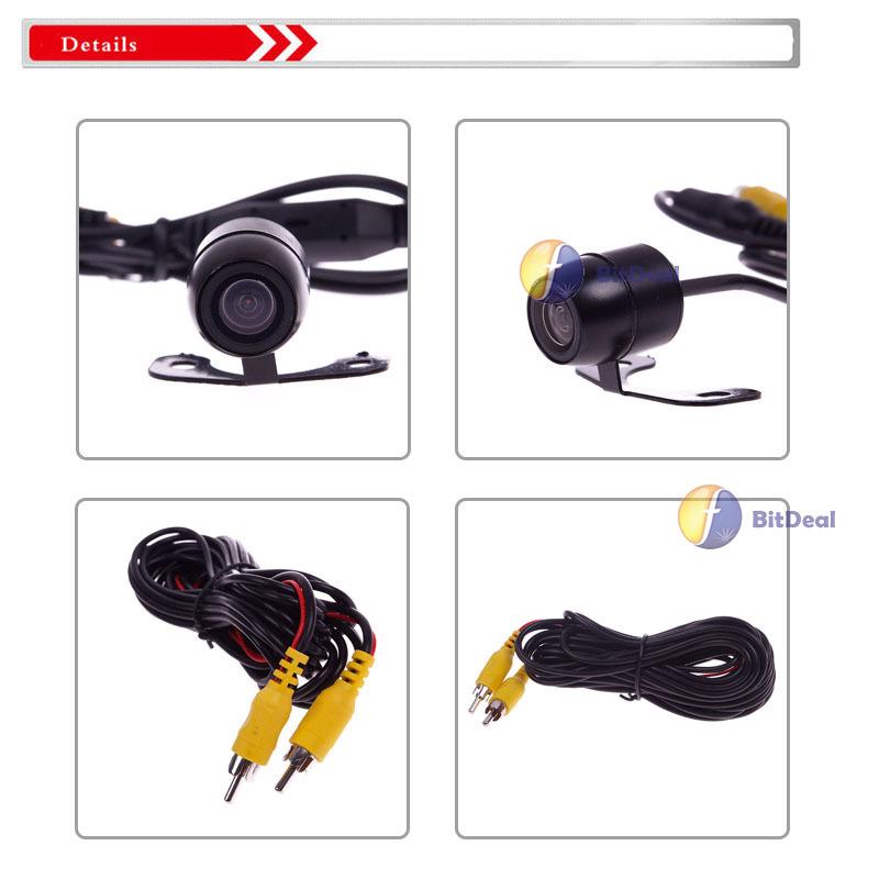 topgood Fashionable! Waterproof 170 Color CCD Car Reverse Backup Rear View Camera 12V Night Vision Top rated(China (Mainland))