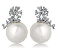 cute stud earrings tiny stud earrings for women snowflake earrings silver stud earrings sweet stud earrings for women M413