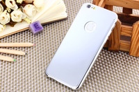 Fashion Glossy Mirror Phone Case Stainless Steel Phone Shell Back Cover for iphone 6 4.7 inches