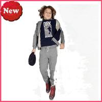 2015 spring+ autumn children clothing sets fashion sports suit boys hoodies sweater shirts + pants warm boys clothing sets