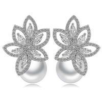 fashion stud earrings pearl earrings silver forest earrings stud earrings for women factory jewelry wholesale womens earrings