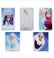 For Apple iPad Air 2 iPad 6 Covers Hot Sale Fashion Cartoon Frozen Elsa Anna Olaf PU Leather Wallet Flip With Stand Phone Case
