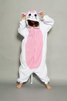 Midnight Cat In Black White Animal Cosplay Costume Men Women Adult Onesie Pajamas Soft Fleece Pyjamas Jumpsuit Romper Sleepwear