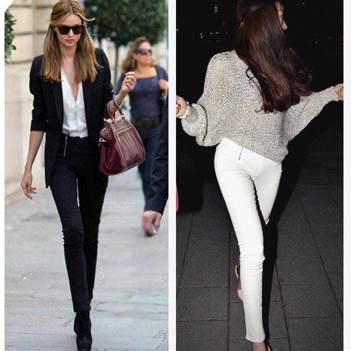 Slim Taille Haute Fashion Taille Haute Slim Stretch