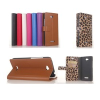 Folio Flip Wallet Stand PU Leather case Cover Card Holder for HTC Desire 616