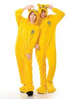 Adventure Time Jake Anime Cosplay Costume Men Women Adult Onesie Pajamas Soft Fleece Pyjamas Jumpsuit Romper Sleepwear