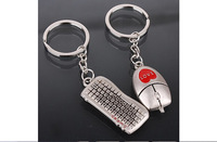 DHL free shipping 500  pairs keyboard mouse type key buckle,Originality gift key buckle The love couple accessories key chains