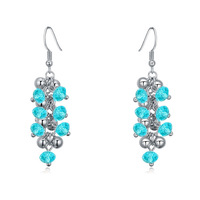 (111715)Alloy plated real gold with Austria Crystal drop earrings - fruits