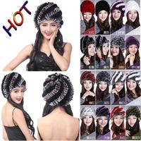 Wholesale 2014 new winter rex rabbit fur hat and fur pineapple hat fur hat and fur hat female Hot