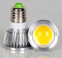 10pcs/lot 5W COB  LED Spotlight E27 Bright Led Light Bulb Lamp Free Shipping