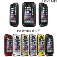 "i6 4.7"" Original Love Mei Aluminum Powerful Case For iPhone 6 4.7"" Extreme Dirtproof Waterproof Shockproof Gorilla Glass"