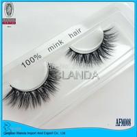 UPS Free Shipping 100Pair/Lot Thick False Eyelashes Mink Eyelash Lashes Voluminous Makeup Tail Winged