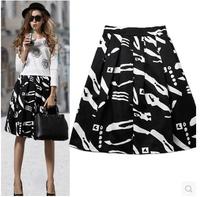 2015 New Fashion Women Elastic High Waist Slim Skirt OL Ladies Organza Pleated Skirt Plus Size Summer Women Skirts C2275