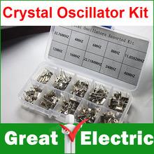 200PC/LOT Crystal Oscillator Assorted Kit Assortment Set, 32.768KHz ~ 48MHz 10 Values Each 20pcs With Box CGKCH063(China (Mainland))