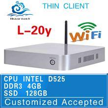 useful mini desktop computer l-20y fan desktop pc 4g ram 128g ssd D525 1.8Ghz dual core tablet pc linux mini office computer(China (Mainland))