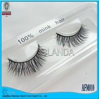 By UPS 40pair/lot 2015 New natural long 100% Real Thick Mink Strip Lashes /False Individual mink Eyelashes (eyelash extensions)