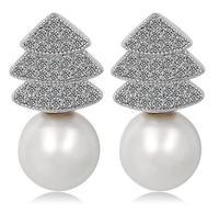 cubic zirconia earrings studs for women crystal stud earrings cool earring cartilage earrings white gold earrings wholesale M413