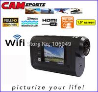 WiFi HD 1080P wifi camera motorcycle helmet waterproof sport camera dvr digital camera 1920*1080
