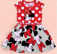 Christmas Baby Dress Girls X'mas dress Kid Dress Party Clothings Free shipping