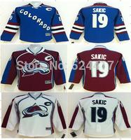 Youth Colorado Avalanche Hockey Jerseys #19 Joe Sakic Jersey Home Burgundy Jerseys