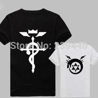 Japanese Anime Cartoon Fullmetal Alchemist Tshirts Summer Short Sleeve T Shirts Men Top Tees Fashion Casual Style T-shirts