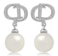 pearl stud earrings for sale vintage letter earrings studs silver teardrop earrings unique cheap earrings for women M849