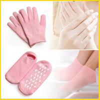 Soft Spa Gel Gloves and Socks Beautiful Moisturizing Whitening Treatment Feet Care SPA sock (500paris Gloves + 500pairs Socks)