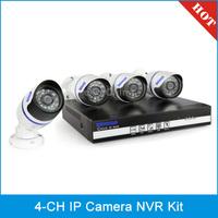 szsinocam SN-NVK-207POE1 4 Chanel HD 720P P2P 1.0 Mega Pixel Cloud IP Camera NVR Kit