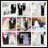 bride groom dress wedding candy box marriage charm shower favor candy boxes wedding party gift hold bag 4 models choose