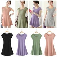 2014 Hot sale women clothes autumn new women's round neck long sleeve ladies fashion dress casual dress women free shipping